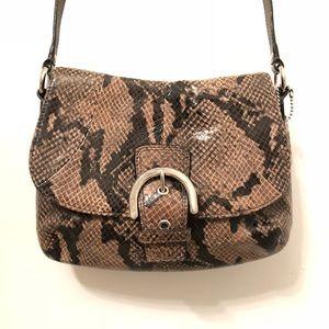 Coach snake skin crossbody bag